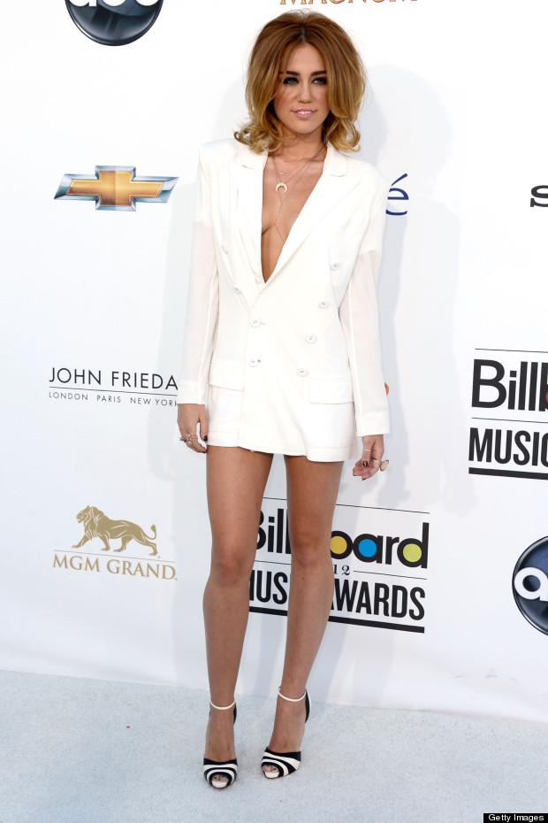 Haute or Not: Miley Cyrus' White Jean Paul Gaultier Blazer ...