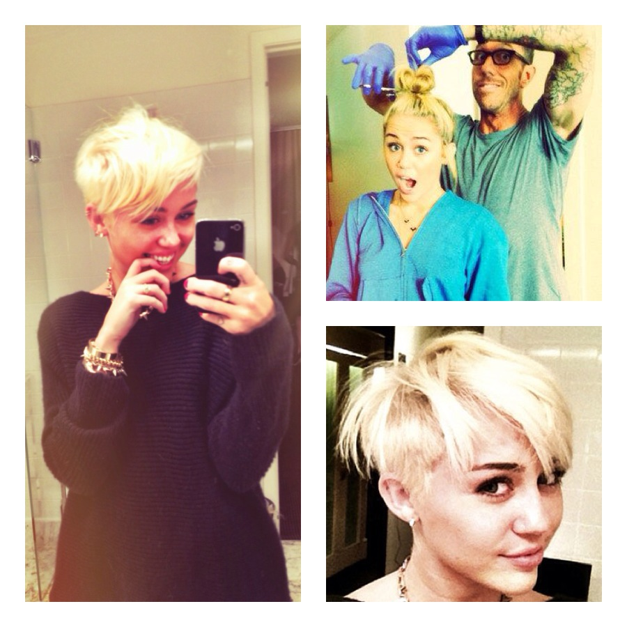 Haute Or Not Miley Cyrus Tweets Pics Of Her New Short Hair