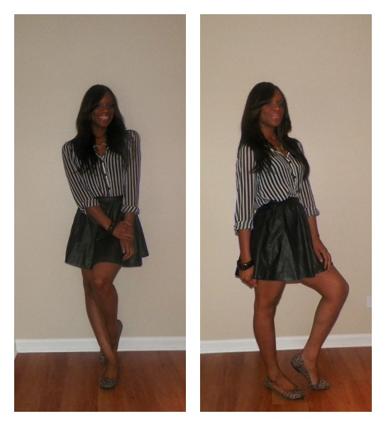 c9468bb1cc Glamspiration: How To Rock A Black Leather Mini Skirt Like Kerry ...